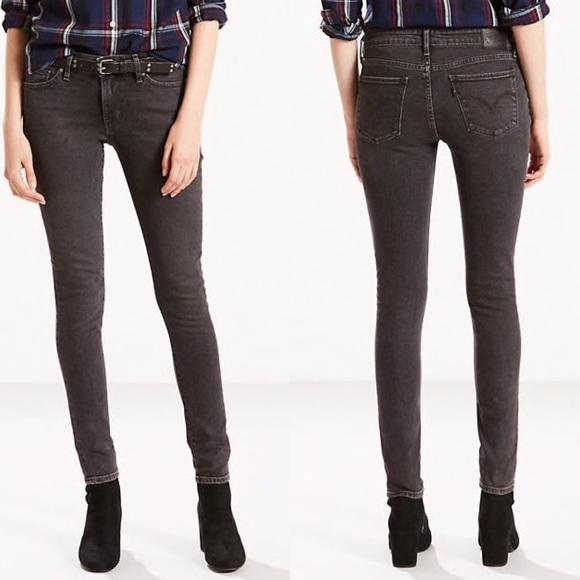 03392d5b486e Levi's Jeans   Levis 711 Skinny Jean In Black Dove   Poshmark